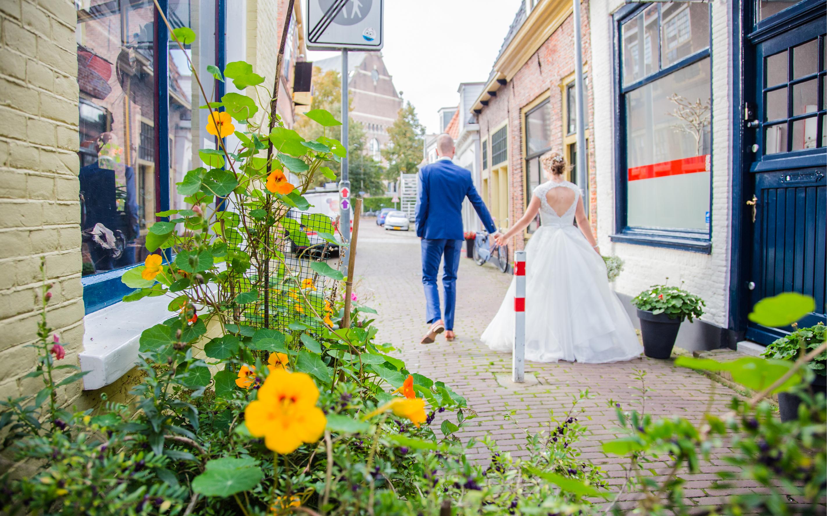 LevensFoto - Huwelijk- Trouwen in Hoorn, huwelijksfotograaf, Hoor, Fotograaf Hoorn, bruid
