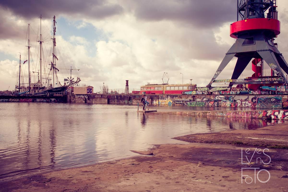 LevensFoto - Loveshoot Urban Amsterdam Anne en Samy