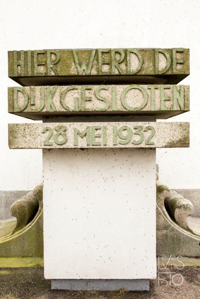 LevensFoto - vakantie , dr. Lely, monument op de afsluitdijk