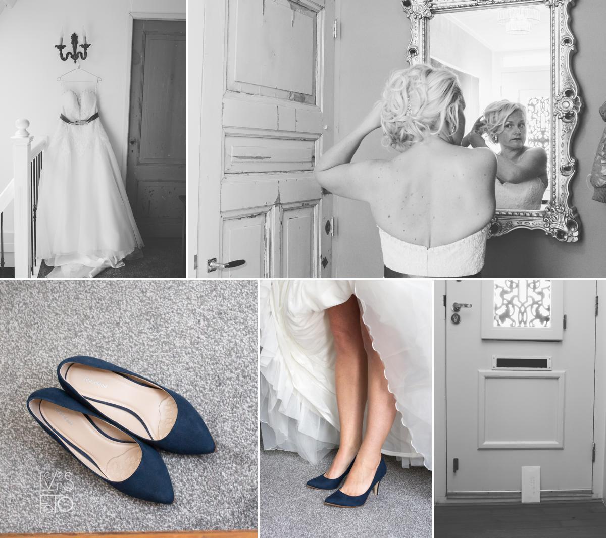 LevensFoto - huwelijk Edwin en Debby, bruid, bruidsschoenen
