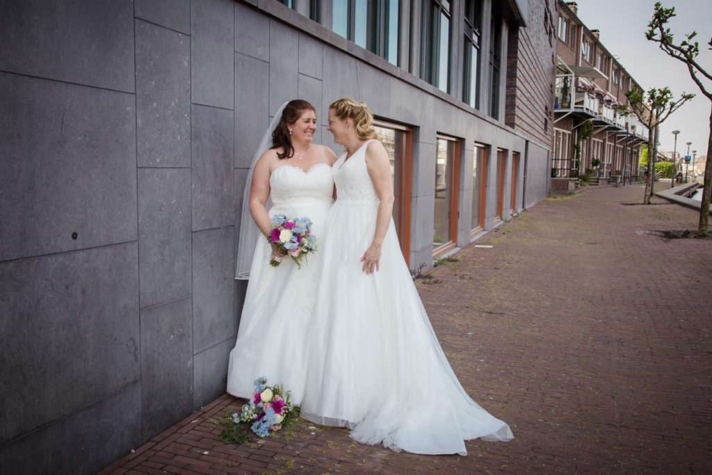 LevensFoto - Joanna en Jolande trouwen, gay wedding