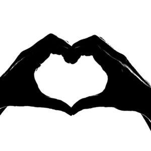 hart, hart, doneren voor het KWF, Geefkankereengezicht