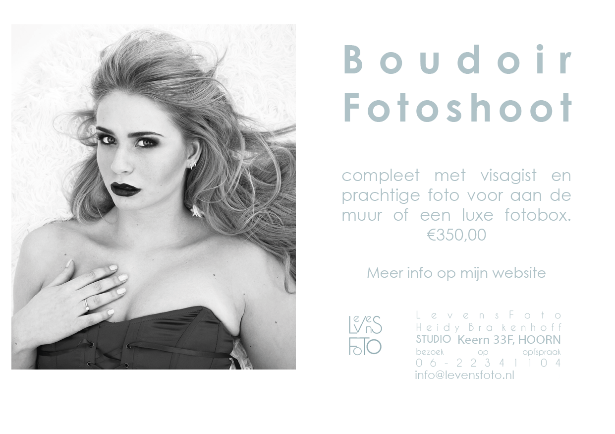 Flyer levensfoto Boudoir