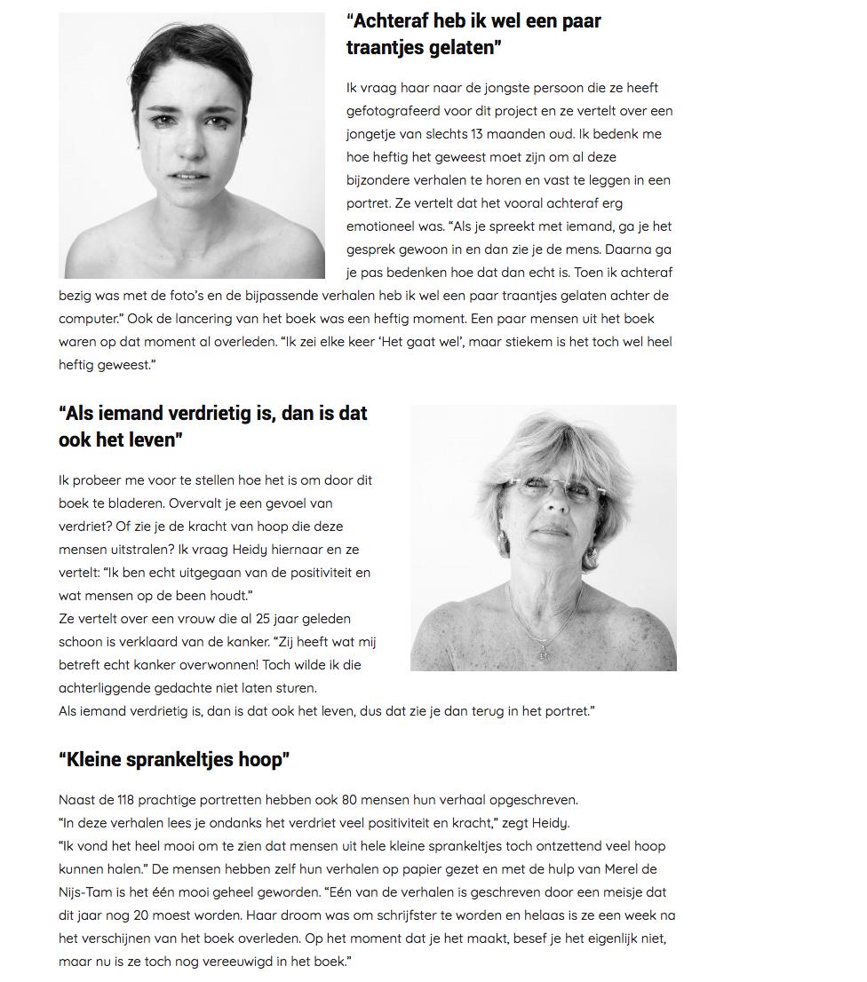 interview met Saskia Kluiters over het boek Geef kanker een gezicht