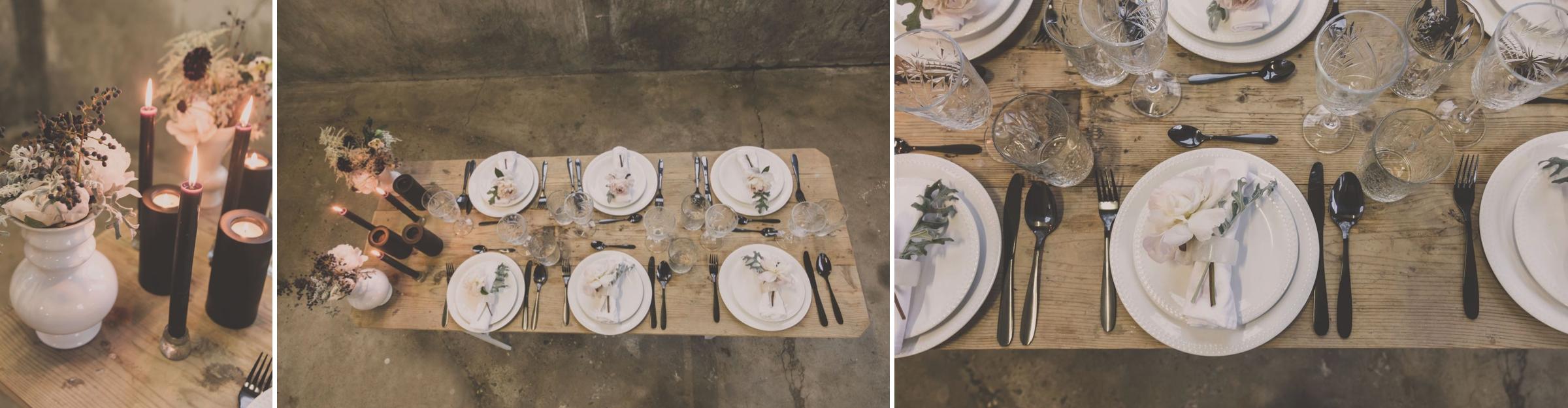 aankleding tafel, decoratie diner bruiloft